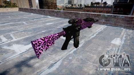 Automatic rifle Colt M4A1 party rock para GTA 4 segundos de pantalla