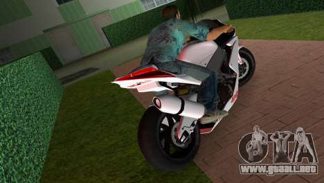 Aprilia RSV4 2009 White Edition I para GTA Vice City vista lateral izquierdo