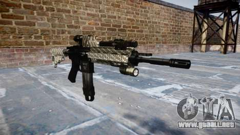 Automatic rifle Colt M4A1 de fibra de carbono para GTA 4