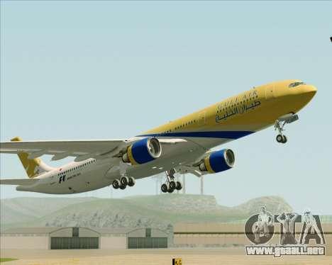 Airbus A330-300 Gulf Air para visión interna GTA San Andreas