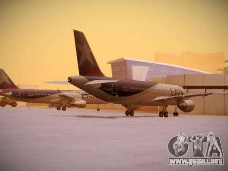 Airbus A320-214 LAN Airlines para la visión correcta GTA San Andreas