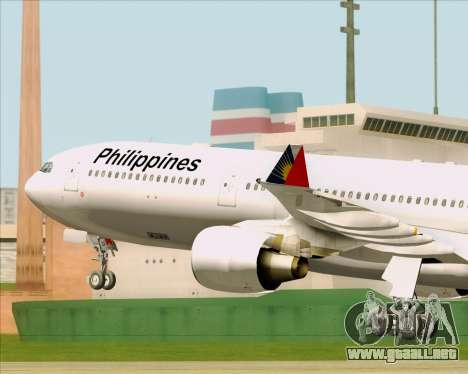 Airbus A330-300 Philippine Airlines para vista lateral GTA San Andreas