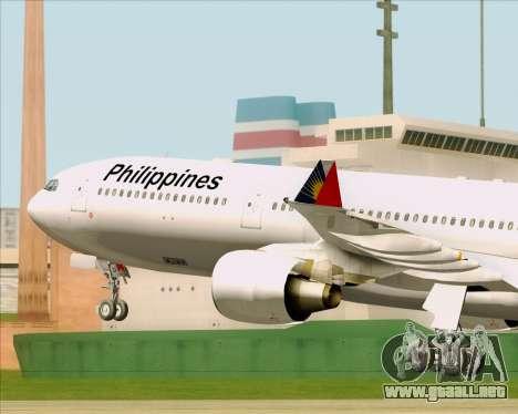 Airbus A330-300 Philippine Airlines para vista lateral GTA San Andreas