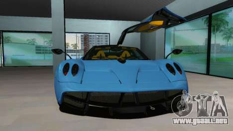 Pagani Huayra 2012 para GTA Vice City vista lateral izquierdo