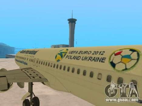 Boeing 737-84R Ukraine International Airlines para vista lateral GTA San Andreas