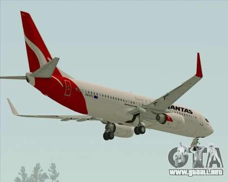 Boeing 737-838 Qantas para GTA San Andreas vista hacia atrás
