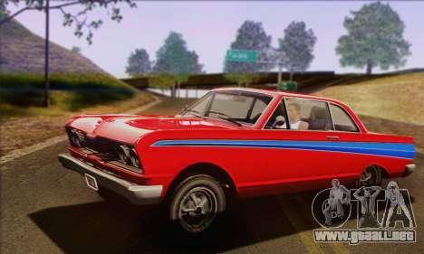 GTA V Blade para GTA San Andreas vista hacia atrás