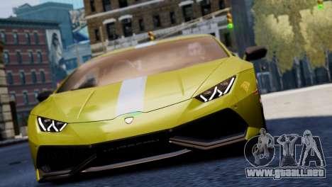 Lamborghini Huracan LP610-2 Valentino Balboni para GTA 4 vista lateral