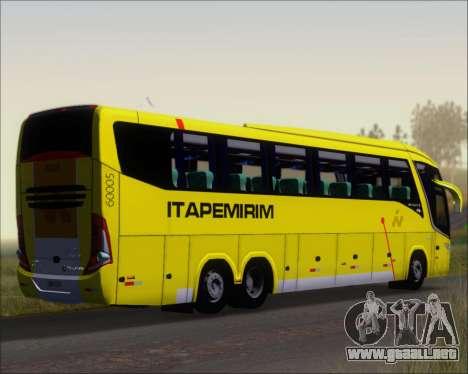 Marcopolo Paradiso 1200 G7 Viacao Itapemirim para la visión correcta GTA San Andreas