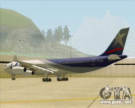 Airbus A340-313 LAN Airlines para la visión correcta GTA San Andreas