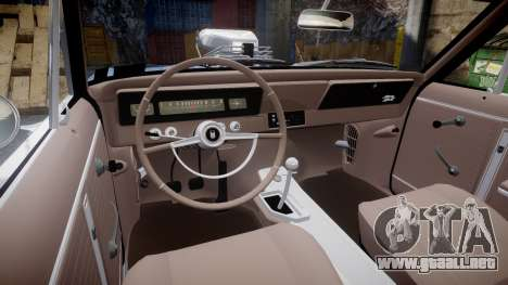 Chevrolet II Nova SS 1966 Custom [EPM] PJ2 para GTA 4 vista hacia atrás