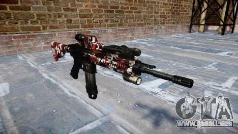 Automatic rifle Colt M4A1 son inyectados de sang para GTA 4