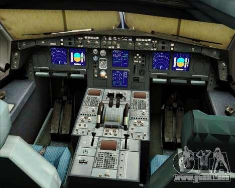Airbus A330-300 Sabena para GTA San Andreas interior
