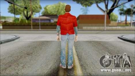 Marty with Vest 1985 para GTA San Andreas segunda pantalla