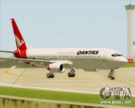 Boeing 737-838 Qantas para vista lateral GTA San Andreas