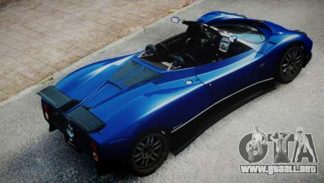 Pagani Zonda S (C12S) Roadster 2011 para GTA 4 Vista posterior izquierda