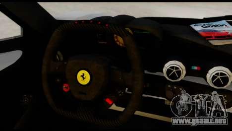 Ferrari LaFerrari 2014 (HQLM) para GTA San Andreas vista posterior izquierda