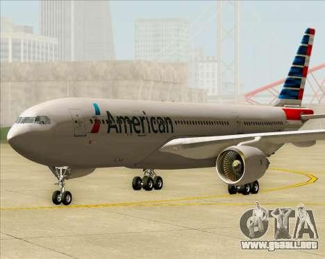 Airbus A330-200 American Airlines para GTA San Andreas vista posterior izquierda