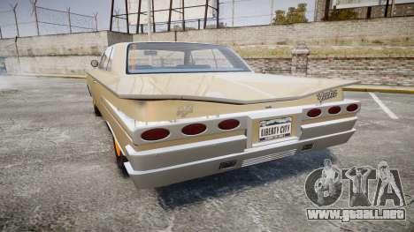 Declasse Voodoo Super Sport para GTA 4 Vista posterior izquierda