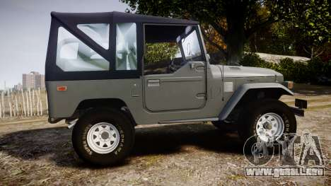 Toyota FJ40 Land Cruiser Soft Top 1978 para GTA 4 left