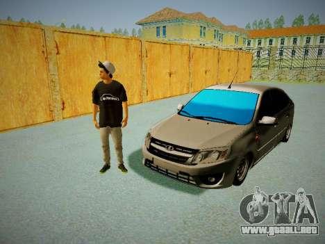 Lada Granta Liftback para visión interna GTA San Andreas