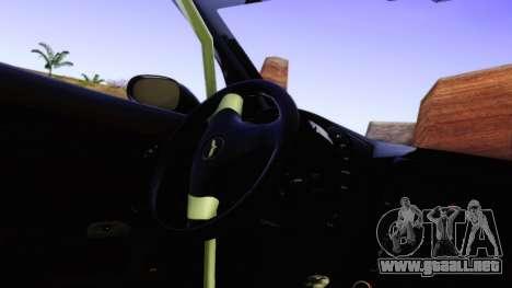 Chevrolet Corvette Z06 2006 Drift Version para GTA San Andreas vista hacia atrás