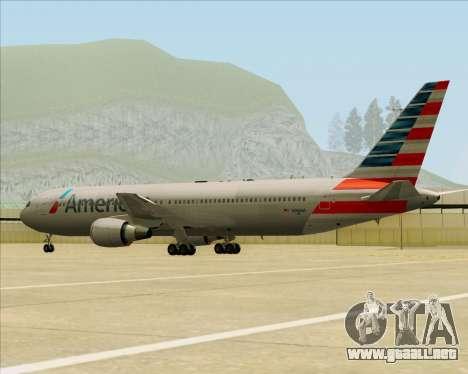 Boeing 767-323ER American Airlines para la vista superior GTA San Andreas