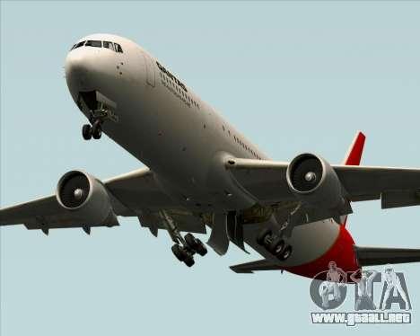 Boeing 767-300ER Qantas para vista inferior GTA San Andreas