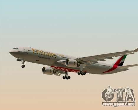 Airbus A330-300 Emirates para vista inferior GTA San Andreas