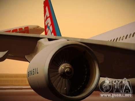 Airbus A330-200 TAM Airlines para las ruedas de GTA San Andreas