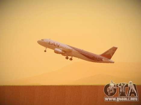 Airbus A320-214 LAN Airlines para vista inferior GTA San Andreas
