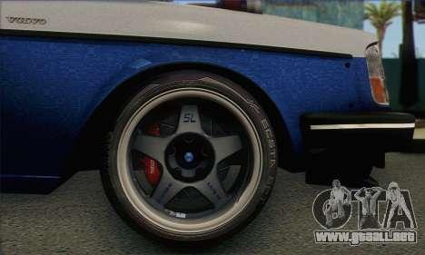 Volvo 242 V6 Twin Turbo 1983 - Stock para GTA San Andreas vista posterior izquierda