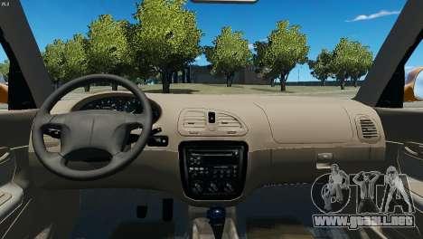 Daewoo Nubira I Wagon CDX US 1999 para GTA 4 vista hacia atrás