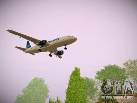 Airbus A320-211 Aigle Azur para GTA San Andreas vista hacia atrás
