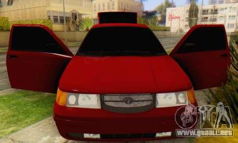 VAZ 2112 para visión interna GTA San Andreas
