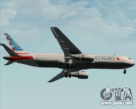 Boeing 767-323ER American Airlines para vista lateral GTA San Andreas