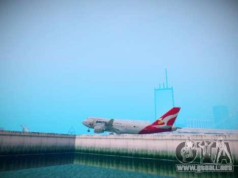Boeing 747-438 Qantas Boxing Kangaroo para GTA San Andreas vista hacia atrás
