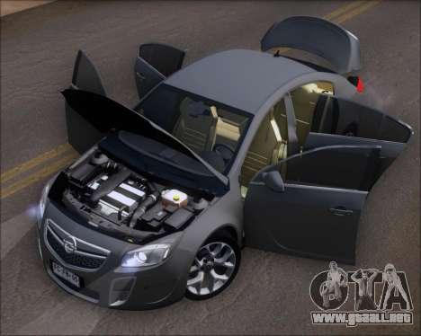 Opel Insignia OPC para vista lateral GTA San Andreas