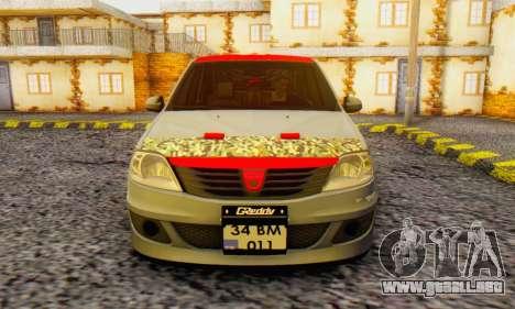 Dacia Logan Turkey Tuning para GTA San Andreas vista hacia atrás