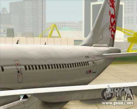 Airbus A330-300 Dragonair para vista lateral GTA San Andreas