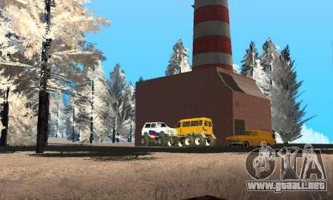Nieve para GTA Penal de Rusia beta 2 para GTA San Andreas novena de pantalla