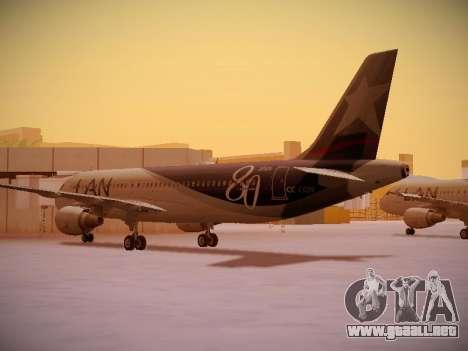 Airbus A320-214 LAN Airlines 80 Years para la visión correcta GTA San Andreas