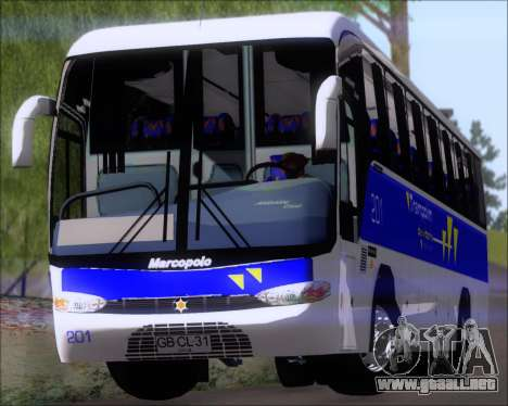 Marcopolo Andare Class Mercedes-Benz OF1721 para vista lateral GTA San Andreas