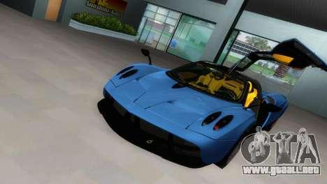 Pagani Huayra 2012 para GTA Vice City vista posterior
