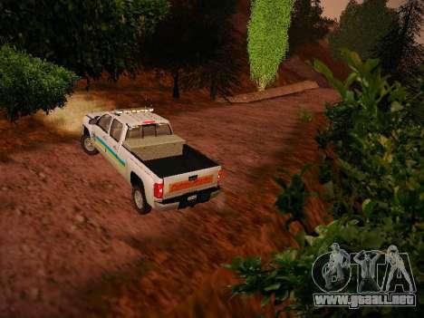 Chevrolet Silverado 2500HD Public Works Truck para la visión correcta GTA San Andreas