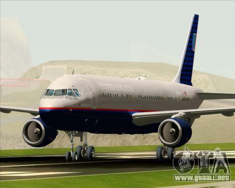 Airbus A320-232 United Airlines (Old Livery) para GTA San Andreas