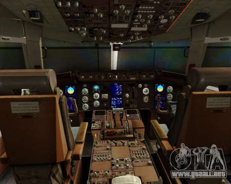 Boeing 767-300ER Australian Airlines para GTA San Andreas interior