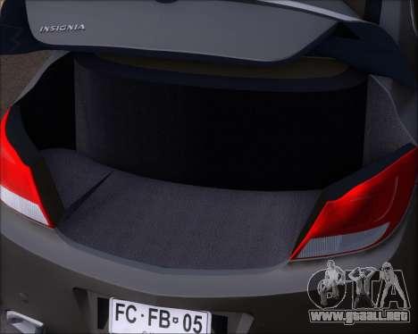 Opel Insignia OPC para vista inferior GTA San Andreas