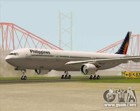Airbus A330-300 Philippine Airlines para GTA San Andreas vista posterior izquierda