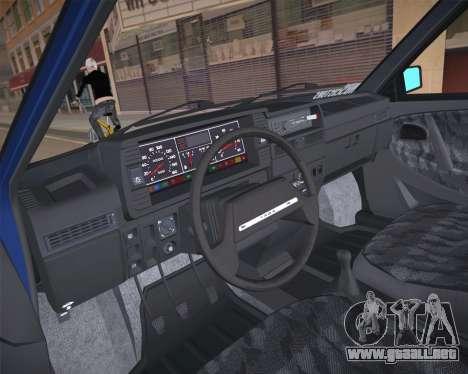 ВАЗ 2109 Baja Clásico para la visión correcta GTA San Andreas